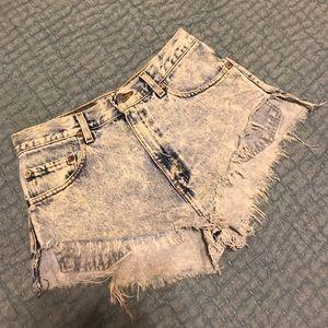 Levi's Festival Cutoff Denim Shorts